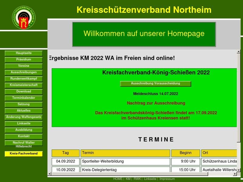 Screenshot von http://www.ksv-northeim.de